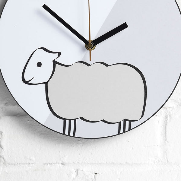 Sheep Wall Clock closeup