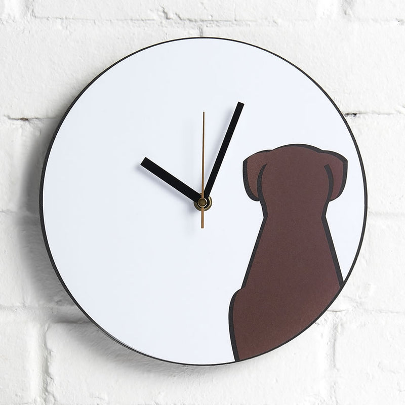 Sitting Dog Wall Clock