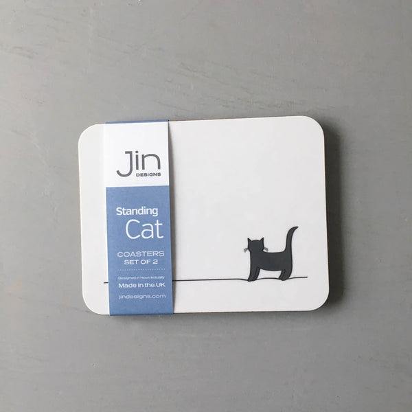 Standing Cat Coasters, Set of 2