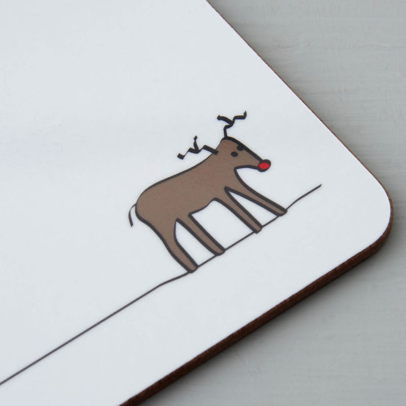 Reindeer Coaster Closeup