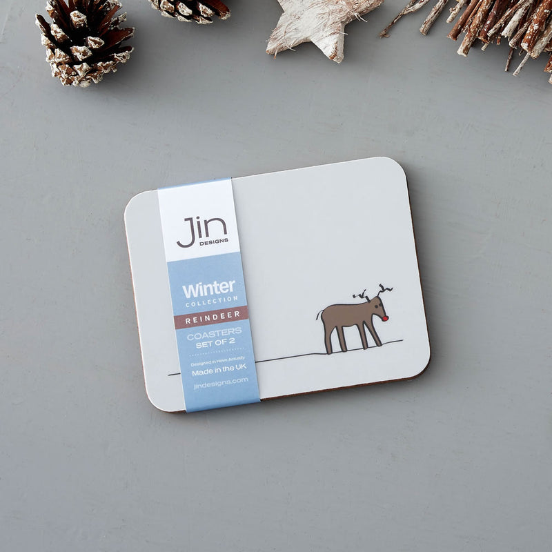 Reindeer Coaster, Set of Two
