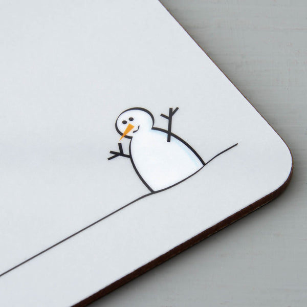 Snowman Coaster Closeup