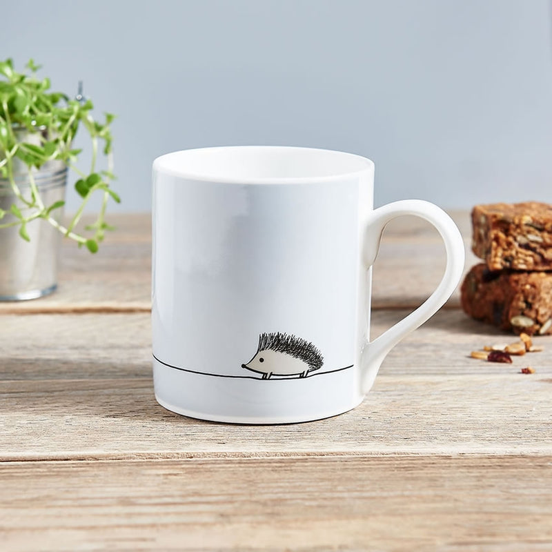 Hedgehog Mug, Fine Bone China, Hedgehog Gifts