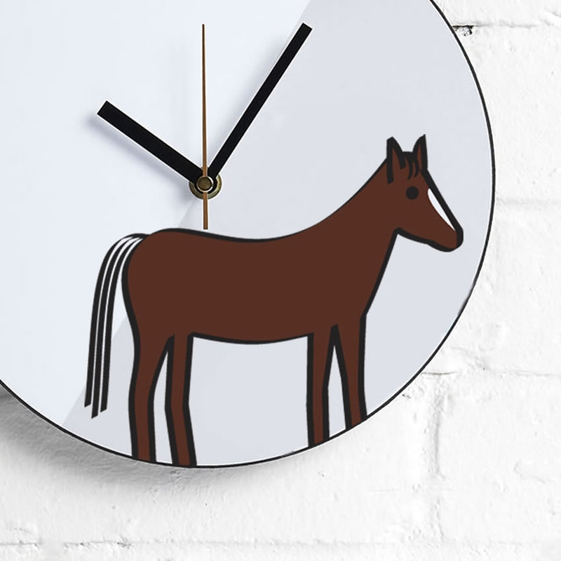 Horse Wall Clock Close Up