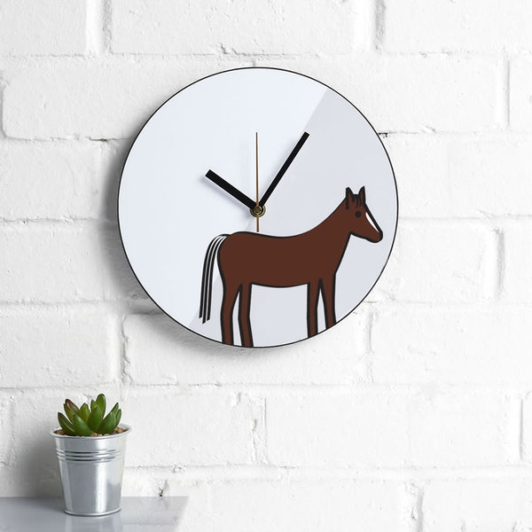 Horse Wall Clock, Gift for Horse Lover