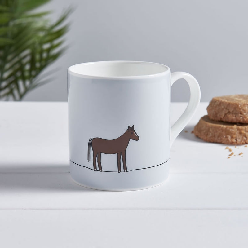 Horse Mug with Biscuits