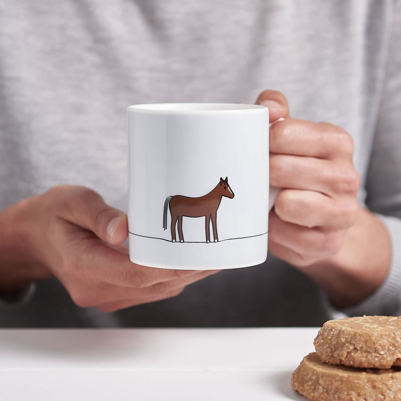 Horse Mug in action, excellent gift for horse lover