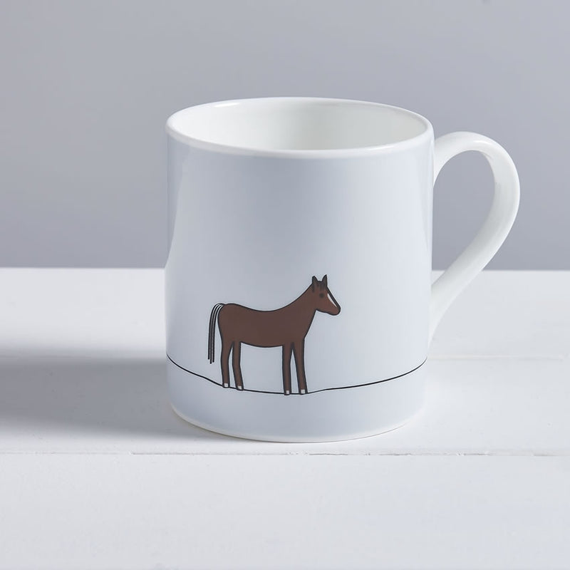 Horse Mug, Fine Bone China, Horse Lover Gift