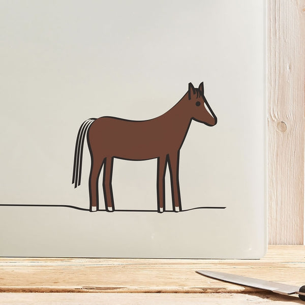 Horse Chopping Board or Worktop Saver - Close Up