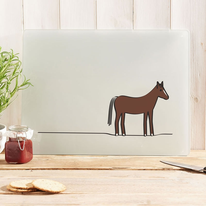 Horse Worktop Saver / Glass Cutting Board
