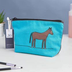 Horse Zip Bag - Makeup Bag, Washbag, Travel Bag, Pencil Case
