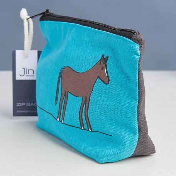 Horse Zip Bag Close Up