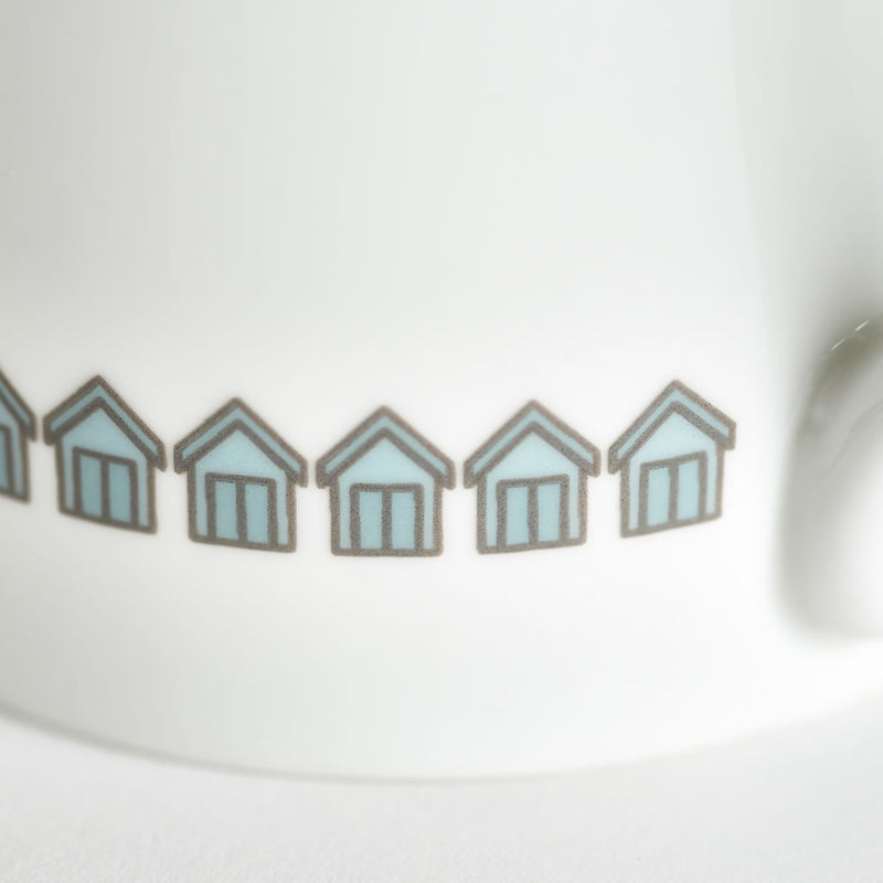 Beach Huts Mug Close up