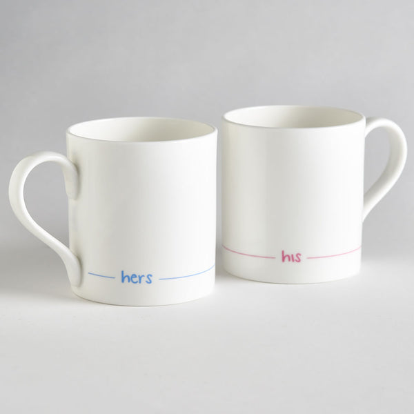 Hers and His Mugs - Set of 2