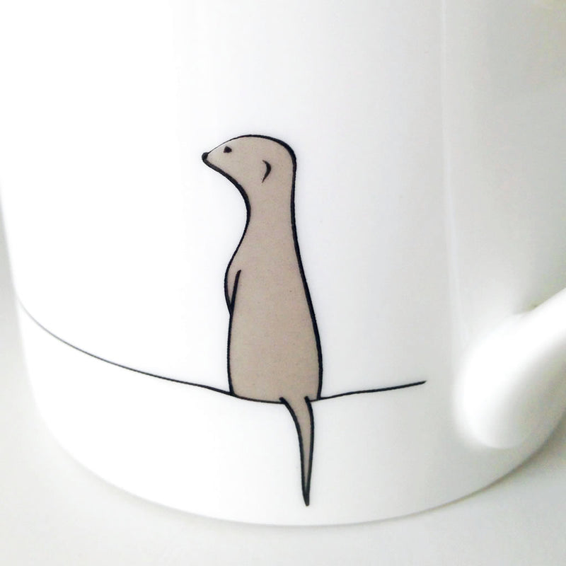 Close up of Meerkat Mug