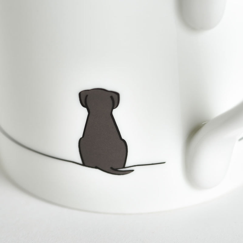 Sitting Dog Mug Close Up
