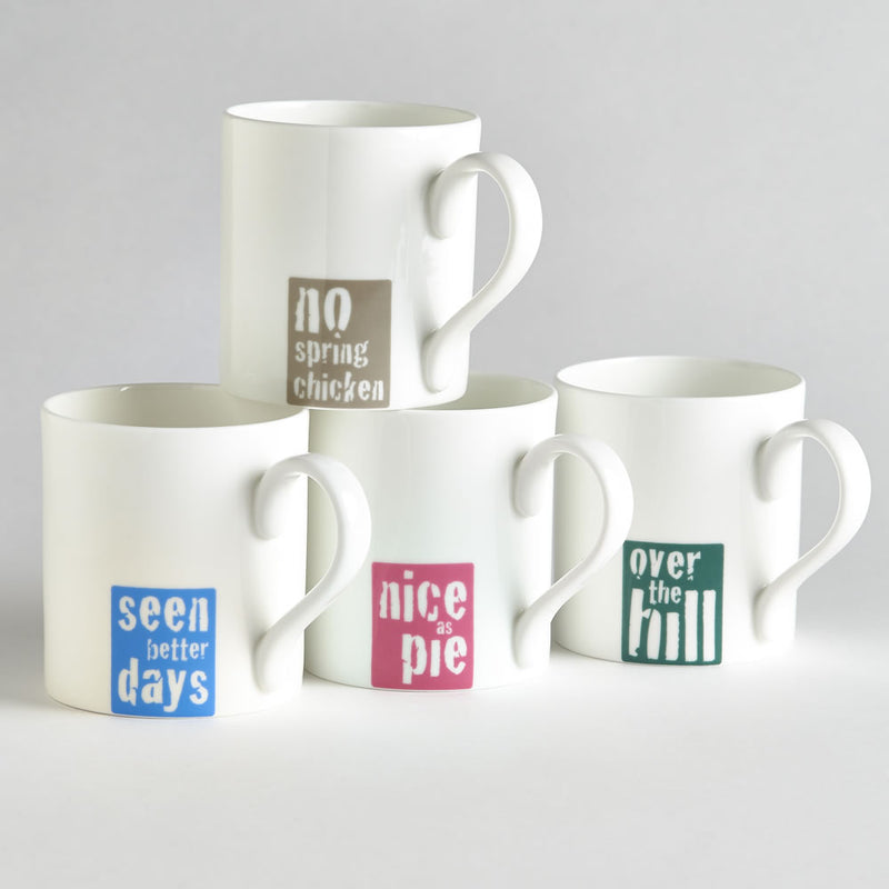 Vintage Sayings Mugs - Set of 4