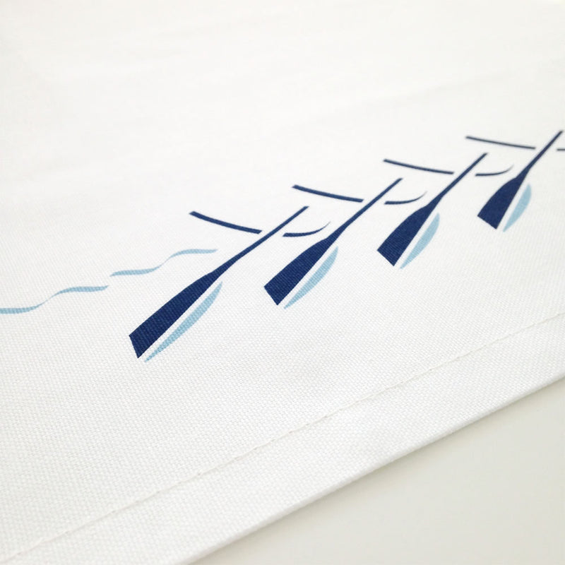 Rowing Boat Tea Towel Close up