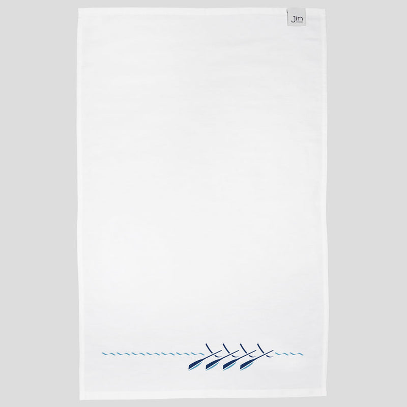 Rowing Boat Tea Towel