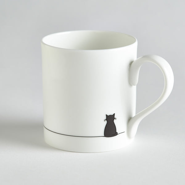 Sitting Cat Bone China Mug