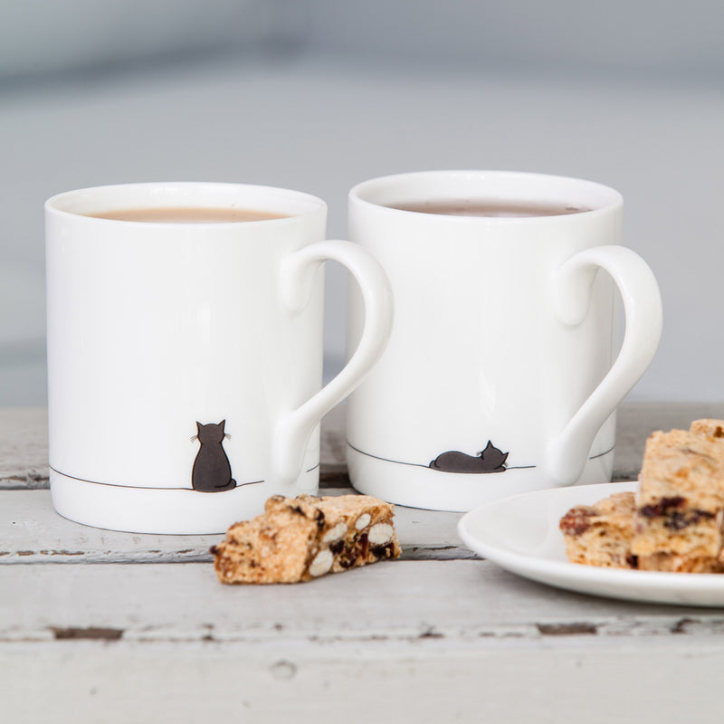 Fine bone china cat mugs