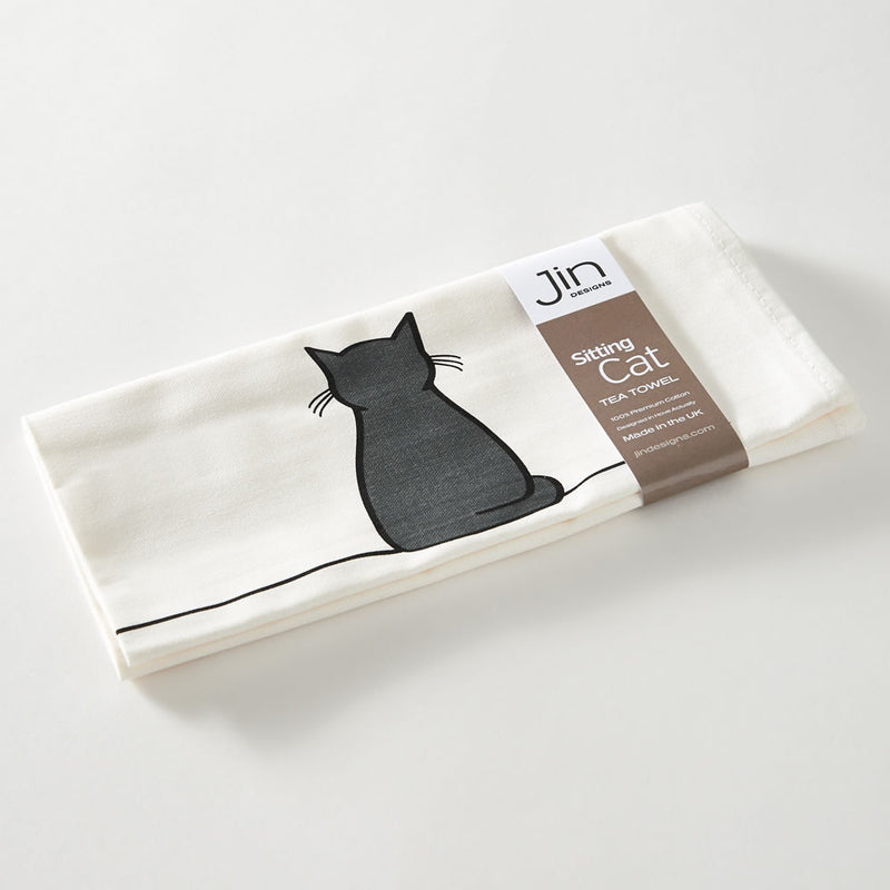 Sitting Cat Tea Towel