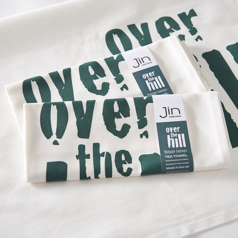 Over the Hill Tea Towel