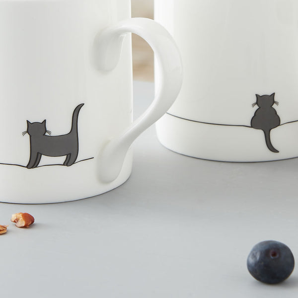 Cat Mugs Close Up