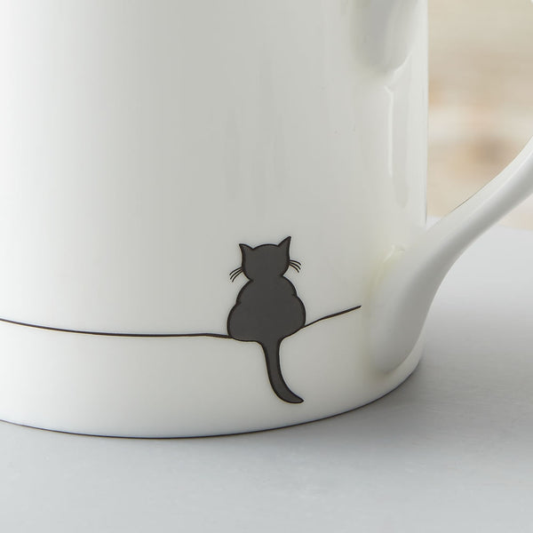 Crouching Cat Mug Close Up