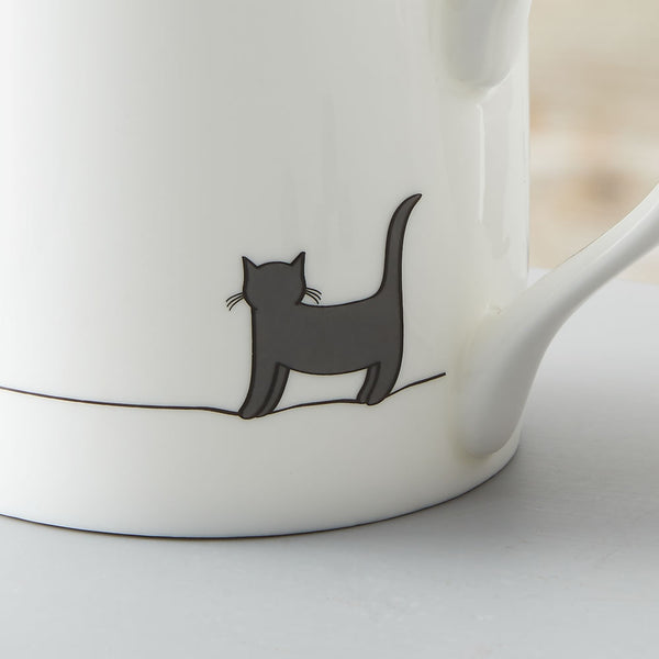 Standing Cat Mug Close Up