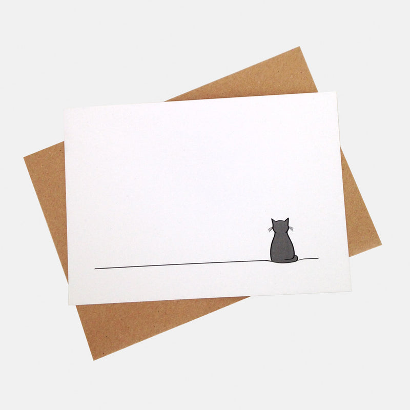 Sitting Cat Notecards