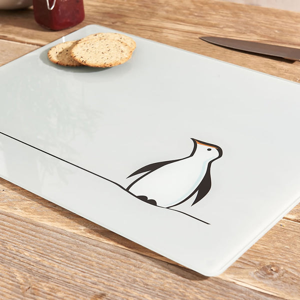 Penguin Glass Chopping Board