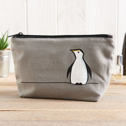Penguin Zip Bag - Makeup Bag, Washbag, Travel Bag, Pencil Case