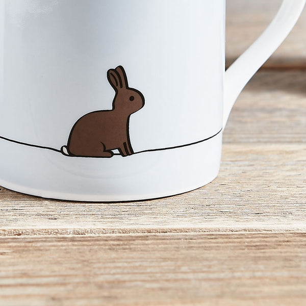 Rabbit Mug, Fine Bone China, Rabbit Gifts
