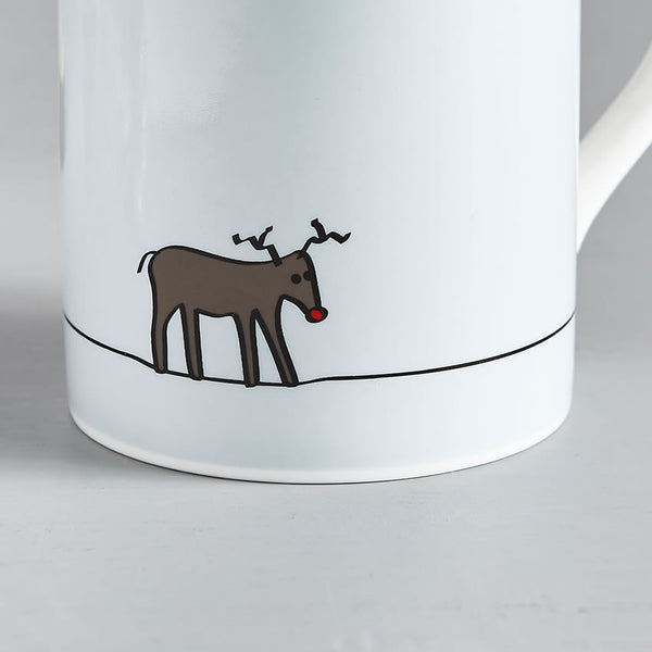 Reindeer Mug Close Up