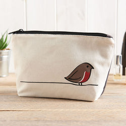 Robin Zip Bag - Makeup Bag, Washbag, Travel Bag, Pencil Case