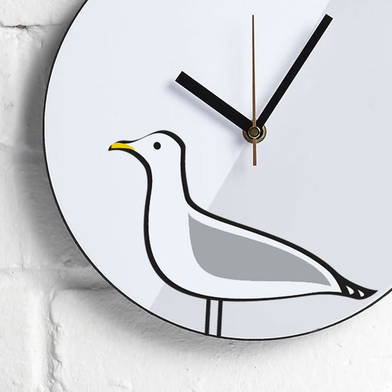 Seagull Wall Clock Close Up