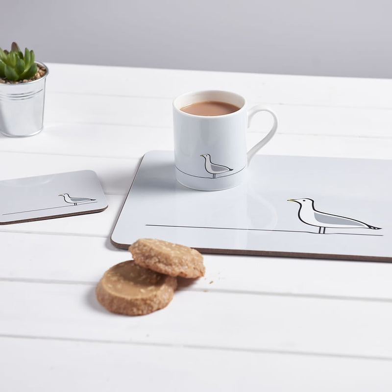Seagull Coaster with other items in the Collection - Mug and Placemat
