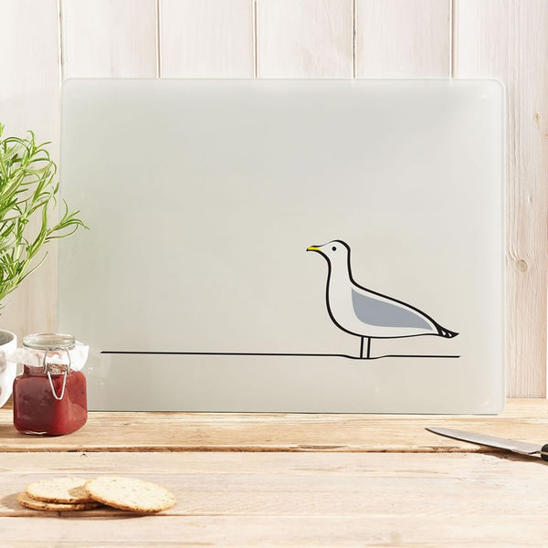 Seagull Glass Chopping Board