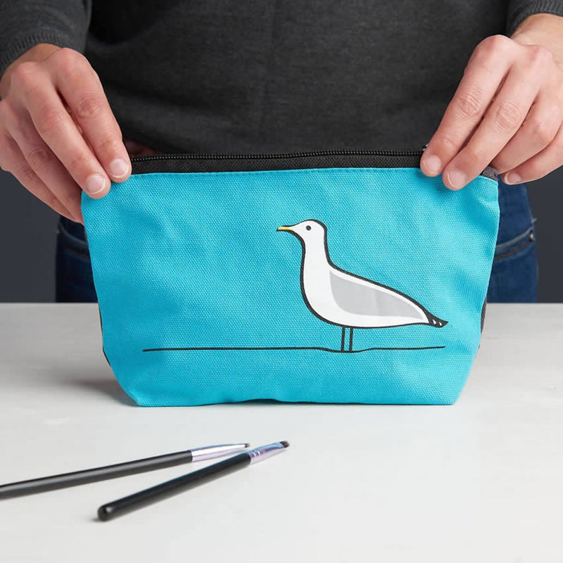 Seagull Zip Bag or Make Up Bag, Wash Bag