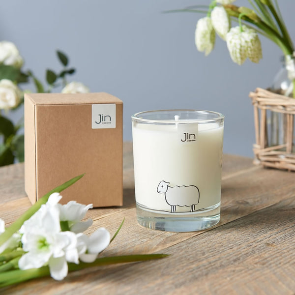 Sheep Candle - Fresh Meadows - with Gift Box