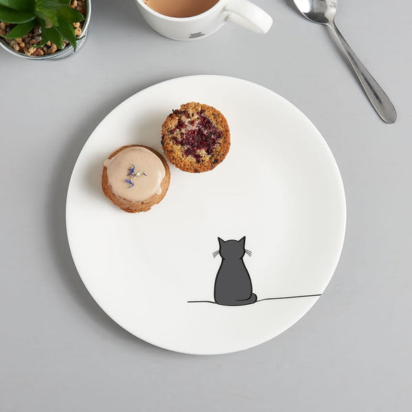 Sitting Cat Side Plate