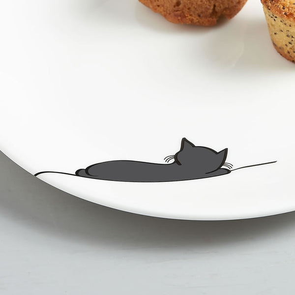 Sleeping Cat Side Plate Close Up