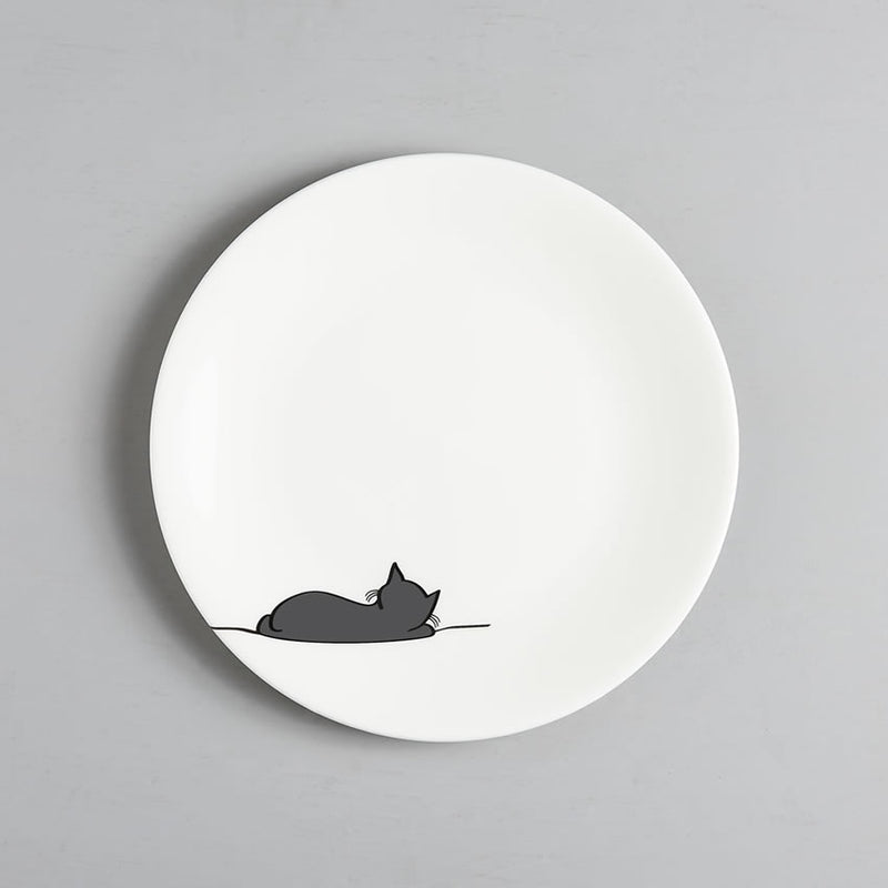 Sleeping Cat Plate