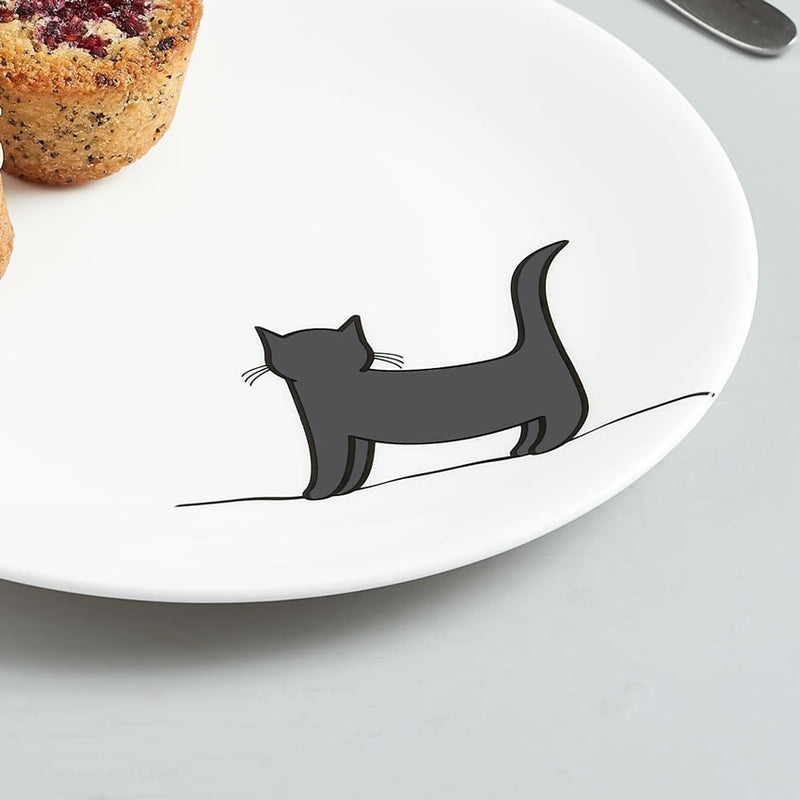 Standing Cat Side Plate Close Up