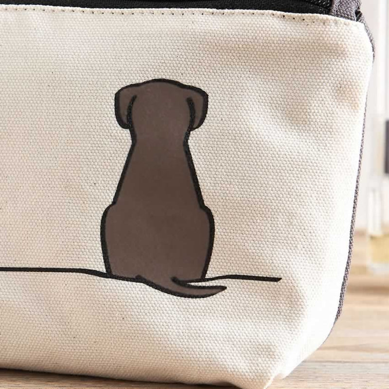 Sitting Dog Zip Bag - Close Up
