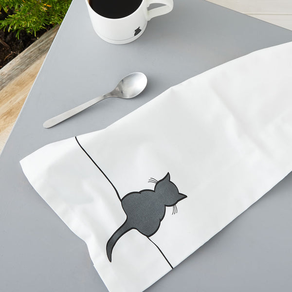 Crouching Cat Tea Towel