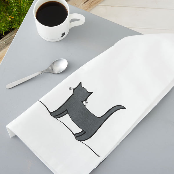 Standing Cat Tea Towel