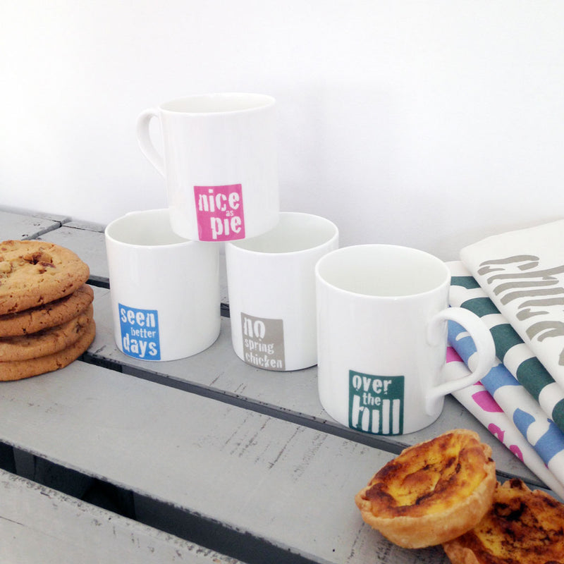 Vintage Sayings Mugs with Tasty Treats