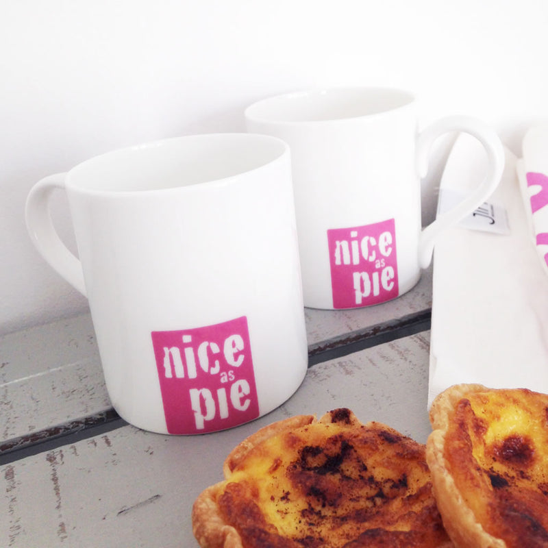 Nice As Pie Mugs with some delicious mini pies